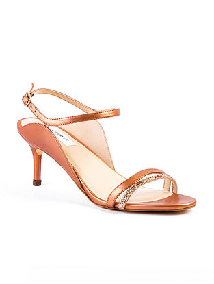 Rose Gold Handcrafted Genuine Leather Pencil Heels