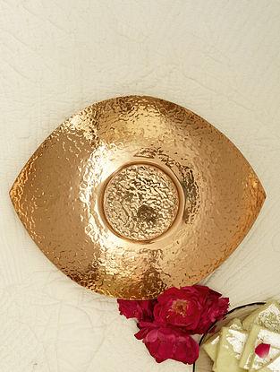 Copper Shiva Copper Platter (L-8.75in ,W- 7.5in ,H- 1in)