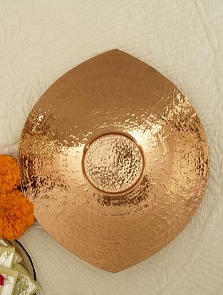 Copper Shiva Copper Platter (L-8in ,W- 6in ,H- 0.5in)