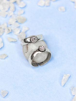 White Silver Toe Rings