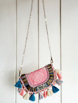 Multicolored Handcrafted Cotton Sling Bag