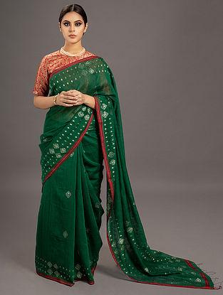 Green Jamdani Silk  Saree