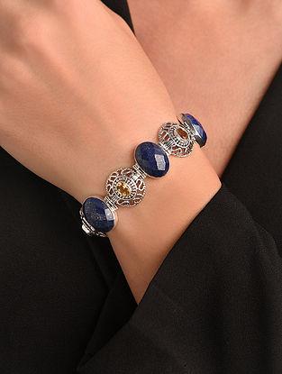 Lapis Lazuli Citrine Silver Bracelet