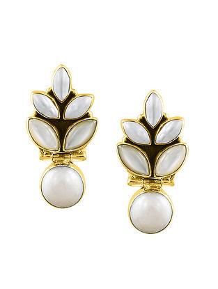 Gold Tone Sterling Silver Earrings