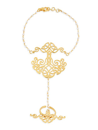 Gold Tone Sterling Silver Haath Phool
