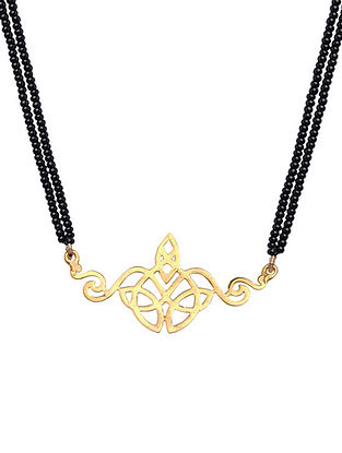 Gold Tone Sterling Silver ?Mangalsutra