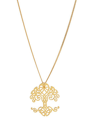 Gold Tone Sterling Silver Pendant