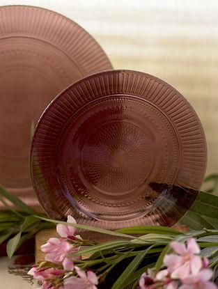 Purple Glass Shehtuti Snack Plate (Set of 2)