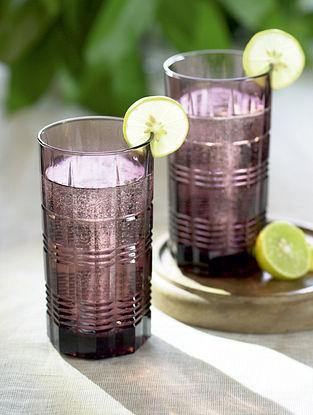 Purple Glass Jamuni Cocktail Glass (Set Of 2)