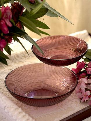 Purple Glass Shehtuti Serving Bowl (Set of 2)