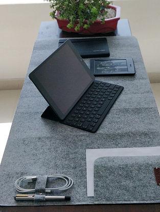 Grey Handcrafted Vegan Felt Fabric Desk Spread