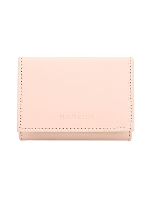 Pink Handcrafted Vegan Leather Wallet