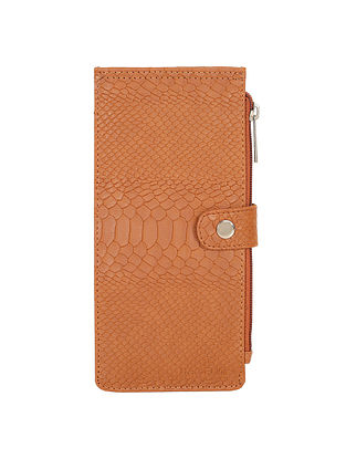 Tan Handcrafted Vegan Leather Wallet