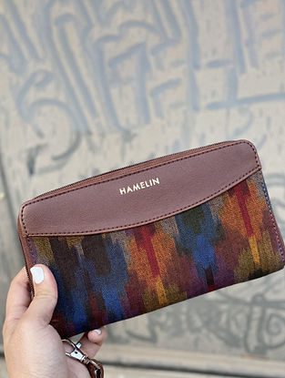 Multicolored Handcrafted Ikat Vegan Leather Wallet