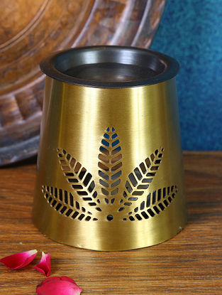 Antique Gold Brass Diffuser (Dia-3.5in ,H-3.5in)