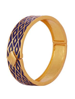 Blue Gold Tone Enameled Bangle