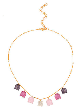 Pink Purple Handcrafted Necklace