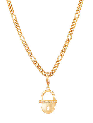 Gold Tone Handcrafted chain with pendant