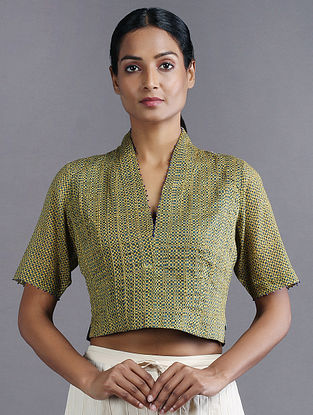 Green Handwoven Cotton Blouse