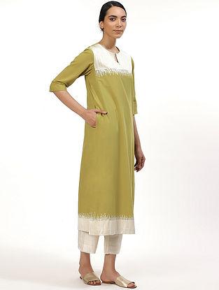 Lime Green Cotton Cambric Kurta Dress