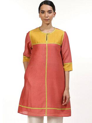 Orange Chanderi Kurta Dress