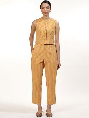 Orange Cotton Cambric Pants