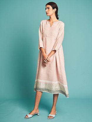 Ren Pink Pintucked Linen Dress with Slip(Set of 2)