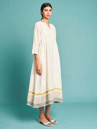 Ren Ivory Pintucked Linen Dress with Slip(Set of 2)