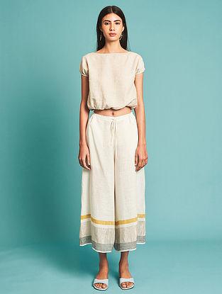 Ora Ivory Linen Culottes