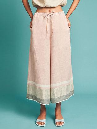 Ora Pink Linen Culottes