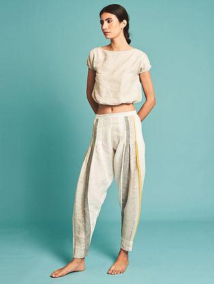 Naoki Ivory Linen Pants
