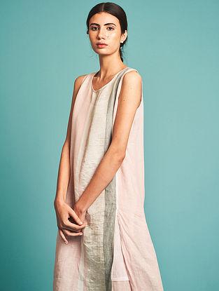 Niko Pink Handloom Linen Kurta with Slip(Set of 2)