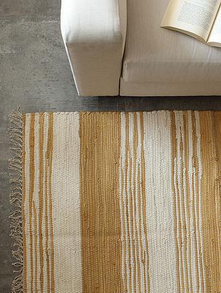 Beige Gruff Strokes Floor Rug (L-72in ,W-48in)