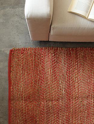 Red Analogous Chevrons Floor Rug (L-72in ,W-48in)