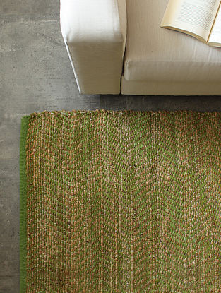 Green Analogous Chevrons Floor Rug (L-72in ,W-48in)