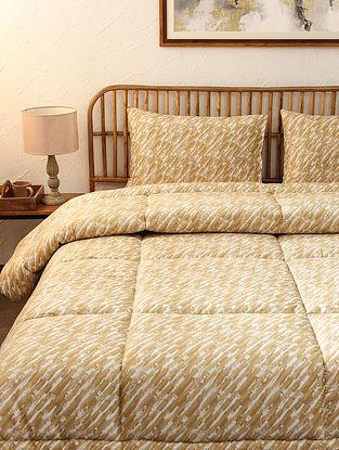 Beige Tulika Single Cotton Printed Comforter (L-92in ,W- 61in)