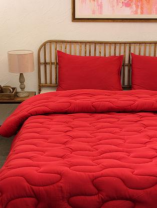 Red Rugmini Single Cotton Comforter (L-92in ,W- 61in)