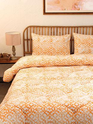 Orange Jaal Single Cotton Printed Comforter (L-92in ,W- 61in)