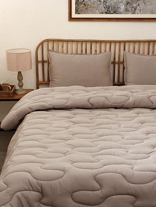 Grey Dhanesh Single Cotton Comforter (L-92in ,W- 61in)