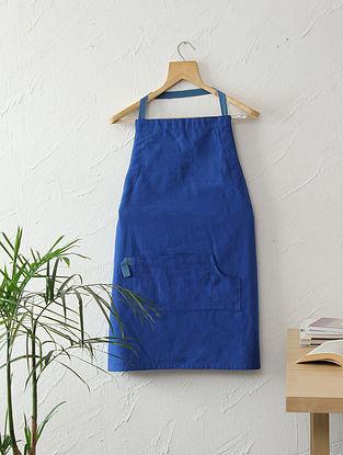 Blue Piccaso Cotton Apron (L-32in ,W- 24in)