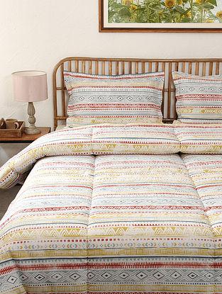 Grey Meghwal Cotton Printed Comforter