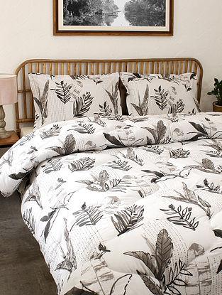 Grey Vanam Cotton Printed Comforter