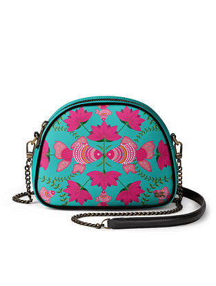 Multicolored Handcrafted Printed Crossbody Bag