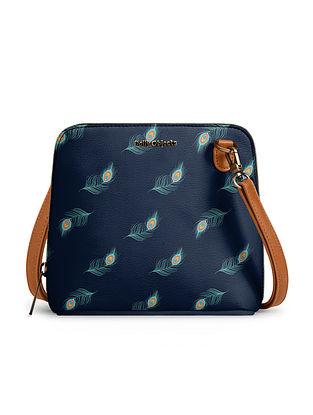 Blue Handcrafted Printed Crossbody Bag