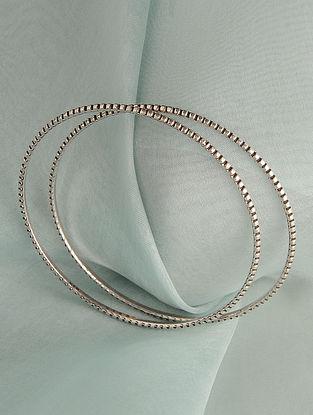 Tribal Silver Bangle (Size: 2/6)