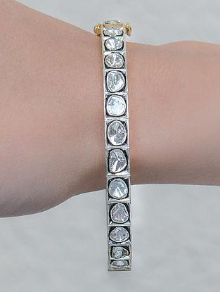 Polki Silver Openable Bangle (Size: 2/4)