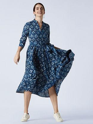 Mizzle' Indigo Blue Cotton Dress