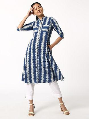 Relax' Indigo Blue Dabu Cotton Dress