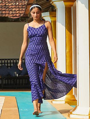 Electric' Blue Handwoven Ikat Cotton Dress