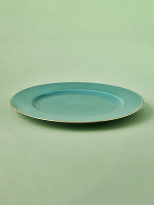 Jade Porcelain Handcrafted Dinner Plate  (Dia-10.5in)